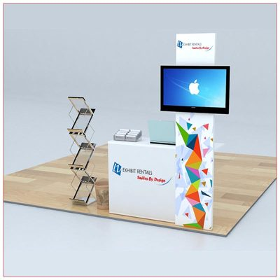 Trade Show Counter Rental Package C4 - LV Exhibit Rentals in Las Vegas
