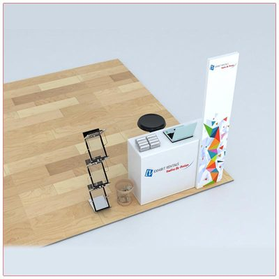 Trade Show Counter Rental Package C4 - Top-Down View - LV Exhibit Rentals in Las Vegas