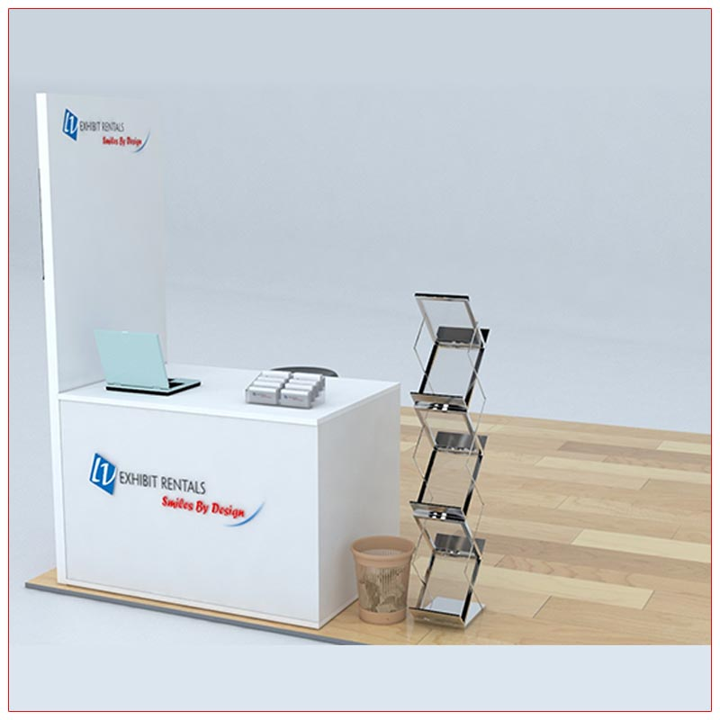 Trade Show Counter Rental Package C5 - Angle View - LV Exhibit Rentals in Las Vegas