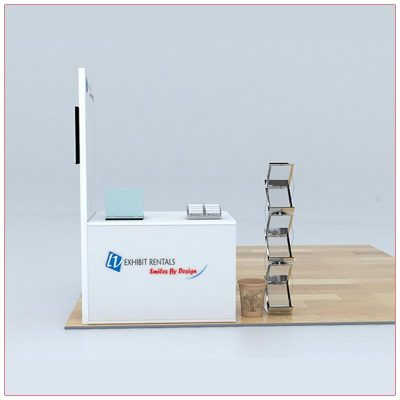 Trade Show Counter Rental Package C5 - Front View - LV Exhibit Rentals in Las Vegas