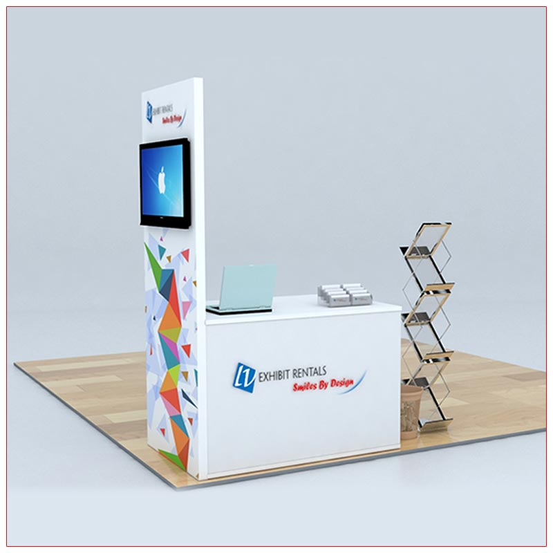 Trade Show Counter Rental Package C5 - LV Exhibit Rentals in Las Vegas