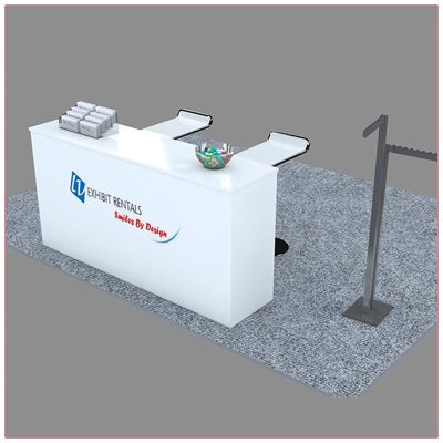 Trade Show Reception Counter Rental Package C10 - Angle View - LV Exhibit Rentals in Las Vegas