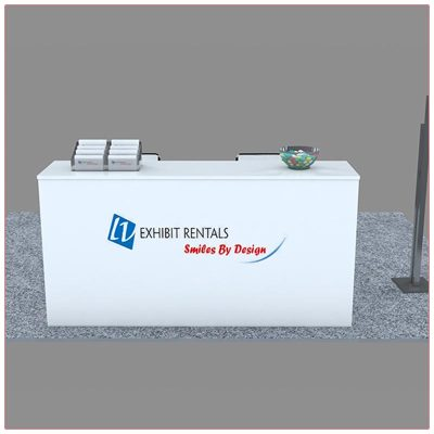 Trade Show Reception Counter Rental Package C10 - Front View - LV Exhibit Rentals in Las Vegas