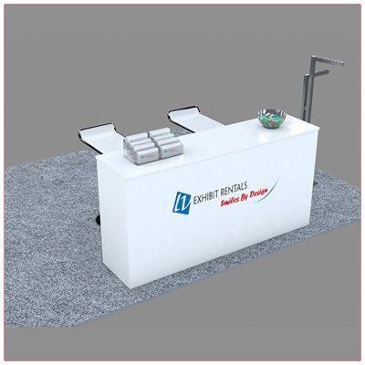 Trade Show Reception Counter Rental Package C10 - LV Exhibit Rentals in Las Vegas