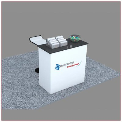 Trade Show Reception Counter Rental Package C11 - LV Exhibit Rentals in Las Vegas