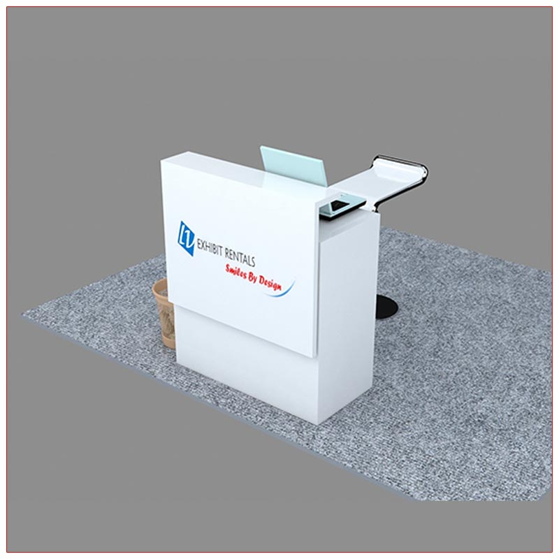 Trade Show Reception Counter Rental Package C12 - Angle View - LV Exhibit Rentals in Las Vegas