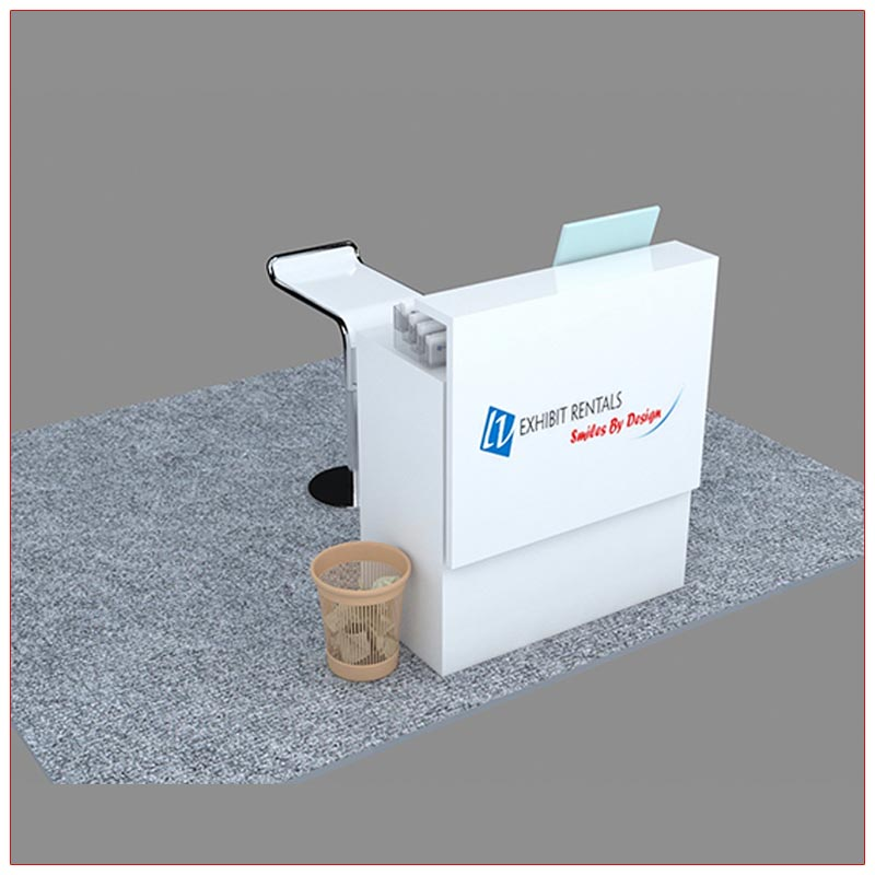 Trade Show Reception Counter Rental Package C12 -Angle View2 - LV Exhibit Rentals in Las Vegas
