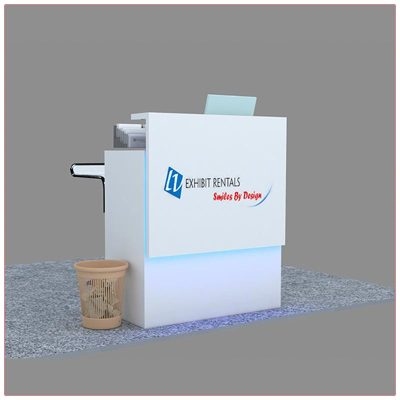 Trade Show Reception Counter Rental Package C12 - LV Exhibit Rentals in Las Vegas