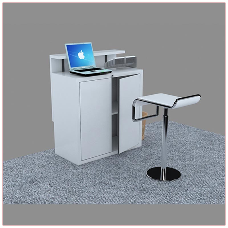 Trade Show Reception Counter Rental Package C12 - Rear View - LV Exhibit Rentals in Las Vegas