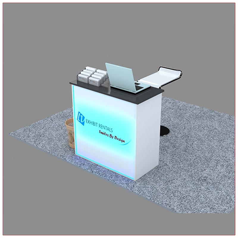 Trade Show Reception Counter Rental Package C6 - Angle View - LV Exhibit Rentals in Las Vegas