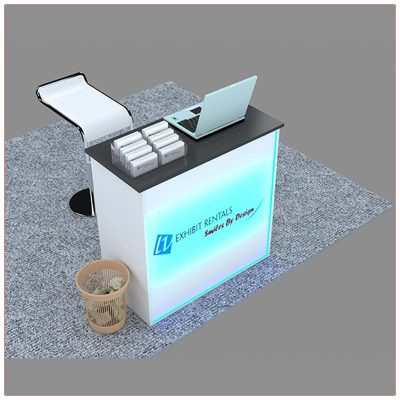 Trade Show Reception Counter Rental Package C6 - LV Exhibit Rentals in Las Vegas
