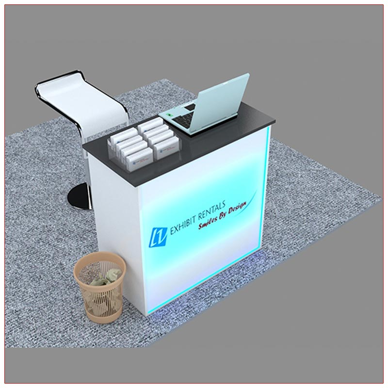 Trade Show Reception Counter Rental Package C6 - LV Exhibit Rentals in Las Vegas