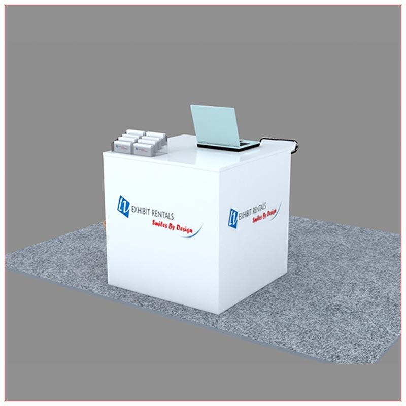 Trade Show Reception Counter Rental Package C7 - LV Exhibit Rentals in Las Vegas