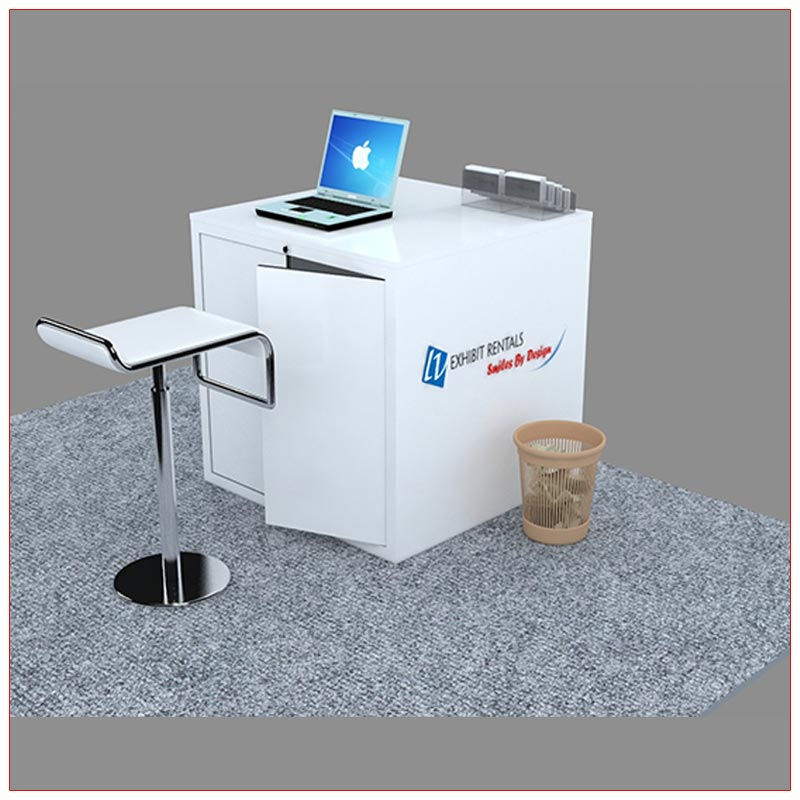 Trade Show Reception Counter Rental Package C7 - Rear View - LV Exhibit Rentals in Las Vegas