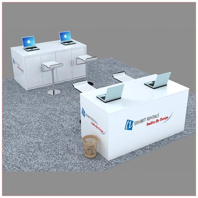 Trade Show Reception Counter Rental Package C8 - LV Exhibit Rentals in Las Vegas