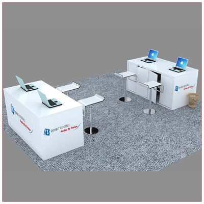 Trade Show Reception Counter Rental Package C8 - Side View - LV Exhibit Rentals in Las Vegas