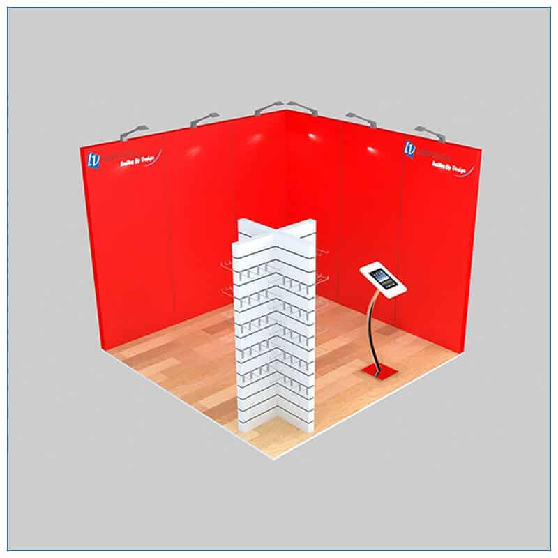 10x10 Trade Show Booth Rental Package 133 - Angle View - LV Exhibit Rentals in Las Vegas