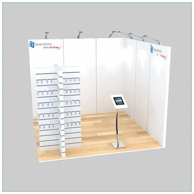 10x10 Trade Show Booth Rental Package 133 - Front View - LV Exhibit Rentals in Las Vegas