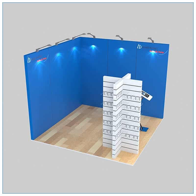 10x10 Trade Show Booth Rental Package 133 - LV Exhibit Rentals in Las Vegas