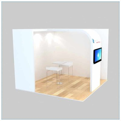 10x10 Trade Show Booth Rental Package 134 - Angle View 2 - LV Exhibit Rentals in Las Vegas