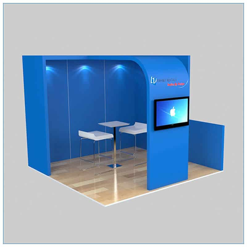 10x10 Trade Show Booth Rental Package 134 - Angle View - LV Exhibit Rentals in Las Vegas