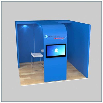 10x10 Trade Show Booth Rental Package 134 - Front View - LV Exhibit Rentals in Las Vegas