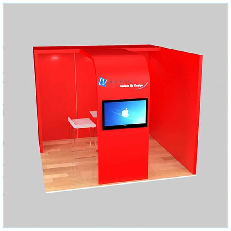10x10 Trade Show Booth Rental Package 134 - LV Exhibit Rentals in Las Vegas