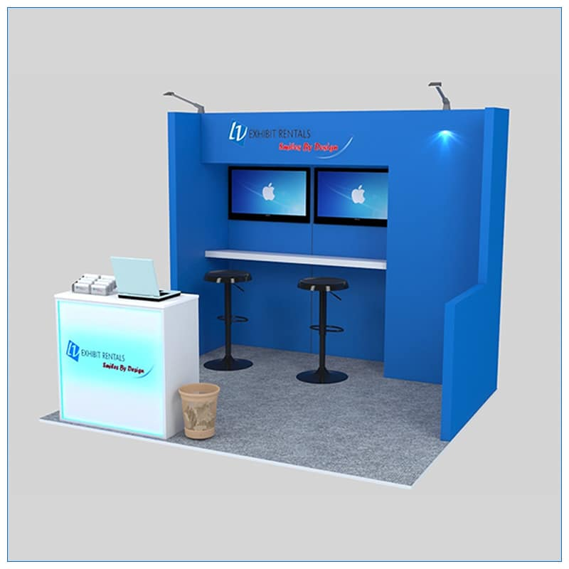 10x10 Trade Show Booth Rental Package 135 - LV Exhibit Rentals in Las Vegas