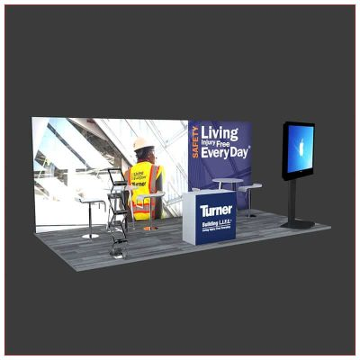 10x20 Trade Show Booth Rental Package 242 - Angle View 2 - LV Exhibit Rentals in Las Vegas
