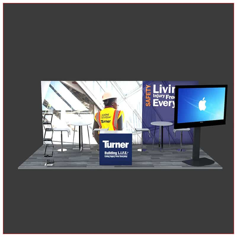 10x20 Trade Show Booth Rental Package 242 - Front View - LV Exhibit Rentals in Las Vegas
