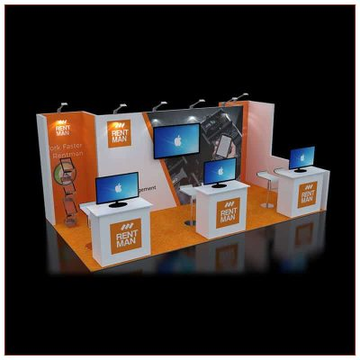 10x20 Trade Show Booth Rental Package 243 - Angle View 2 - LV Exhibit Rentals in Las Vegas