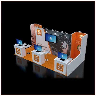 10x20 Trade Show Booth Rental Package 243 - LV Exhibit Rentals in Las Vegas