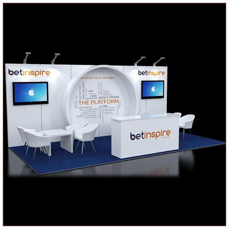 10x20 Trade Show Booth Rental Package 244 - LV Exhibit Rentals in Las Vegas