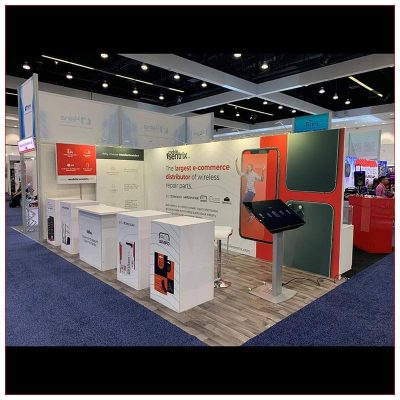 10x20 Trade Show Booth Rental Package 245 - Side View - LV Exhibit Rentals in Las Vegas