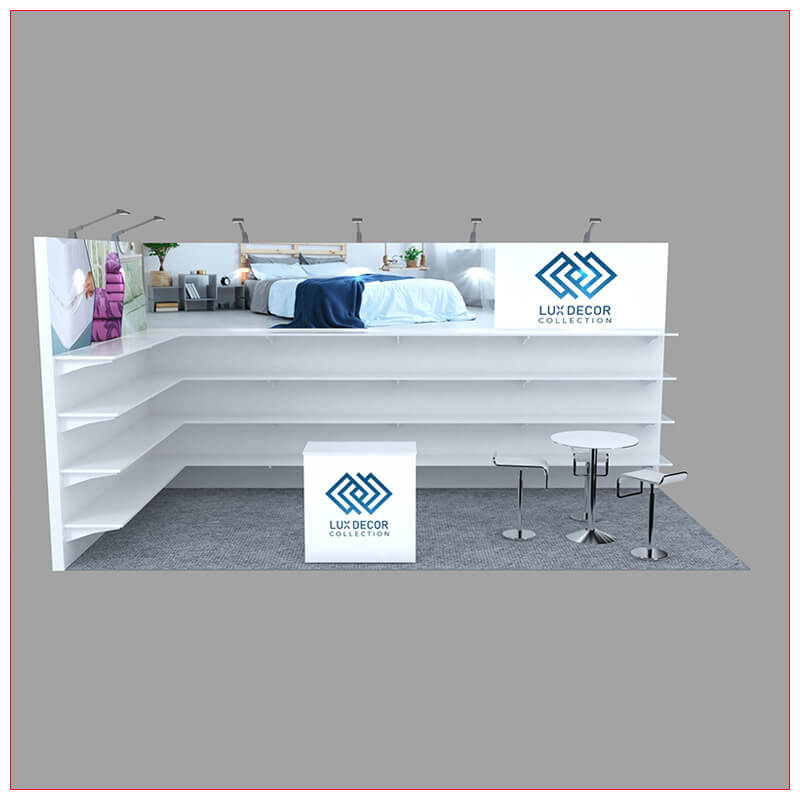 10x20 Trade Show Booth Rental Package 246 - Front View - LV Exhibit Rentals in Las Vegas