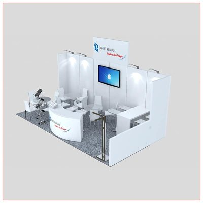 10x20 Trade Show Booth Rental Package 247 - Angle View 2 - LV Exhibit Rentals in Las Vegas