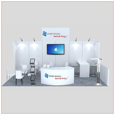 10x20 Trade Show Booth Rental Package 247 - Front View - LV Exhibit Rentals in Las Vegas