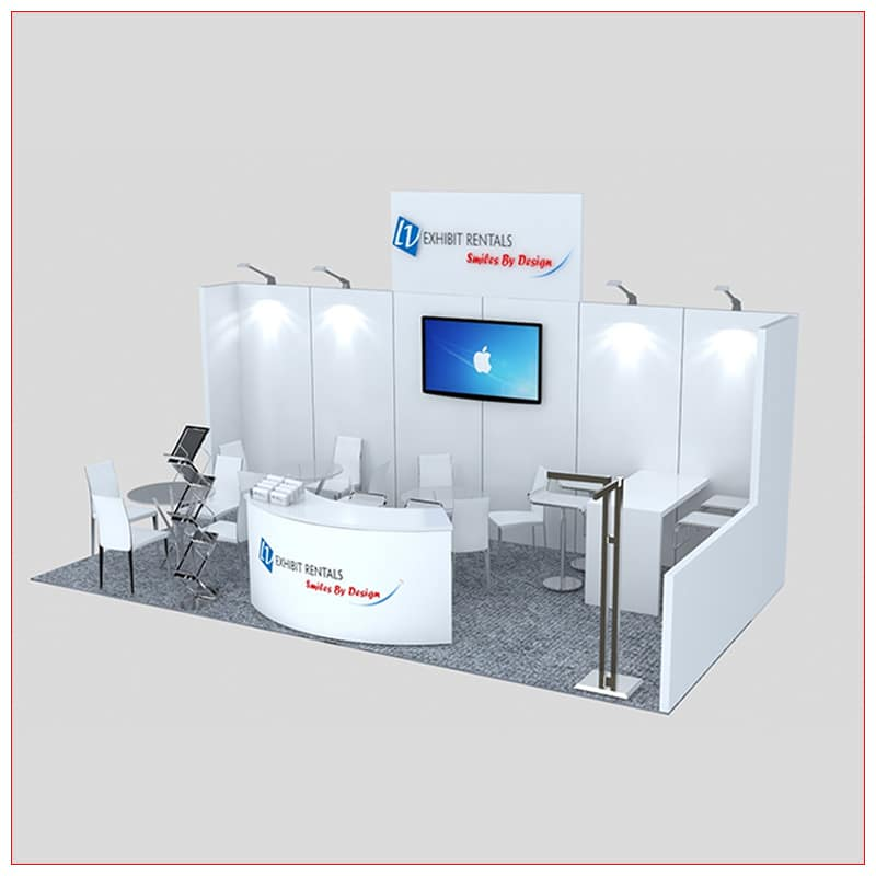 10x20 Trade Show Booth Rental Package 247 - LV Exhibit Rentals in Las Vegas