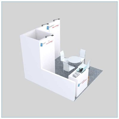 10x10 Trade Show Booth Rental Package 136 - Angle View 2 - LV Exhibit Rentals in Las Vegas