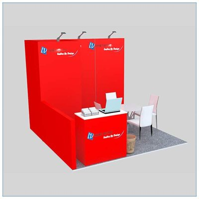 10x10 Trade Show Booth Rental Package 136 - Angle View - LV Exhibit Rentals in Las Vegas