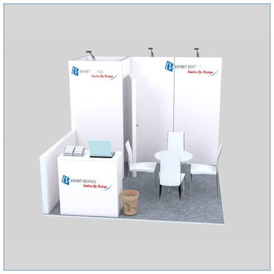 10x10 Trade Show Booth Rental Package 136 - Front View - LV Exhibit Rentals in Las Vegas