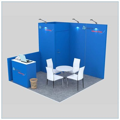 10x10 Trade Show Booth Rental Package 136 - LV Exhibit Rentals in Las Vegas