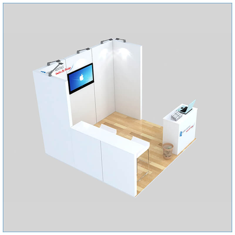 10x10 Trade Show Booth Rental Package 137 - Angle View 2 - LV Exhibit Rentals in Las Vegas
