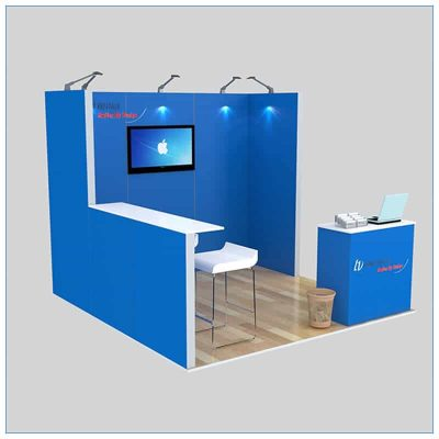 10x10 Trade Show Booth Rental Package 137 - Angle View - LV Exhibit Rentals in Las Vegas