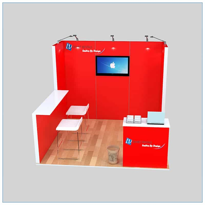 10x10 Trade Show Booth Rental Package 137 - Front View - LV Exhibit Rentals in Las Vegas