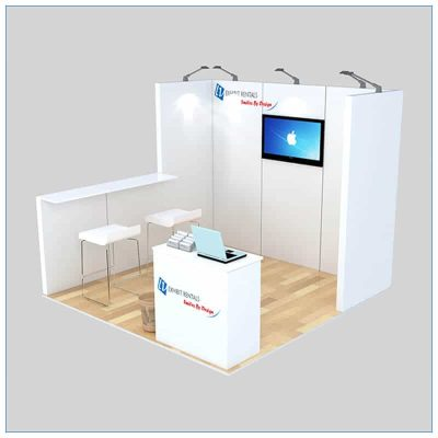 10x10 Trade Show Booth Rental Package 137 - LV Exhibit Rentals in Las Vegas