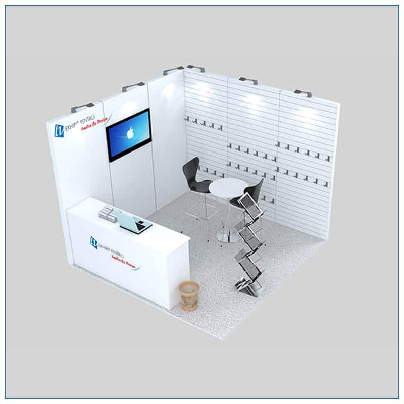 10x10 Trade Show Booth Rental Package 138 - Angle View 2 - LV Exhibit Rentals in Las Vegas