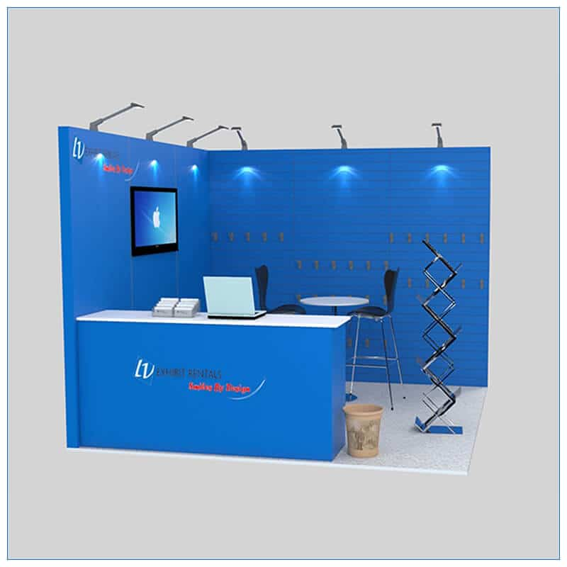 10x10 Trade Show Booth Rental Package 138 - Front View - LV Exhibit Rentals in Las Vegas