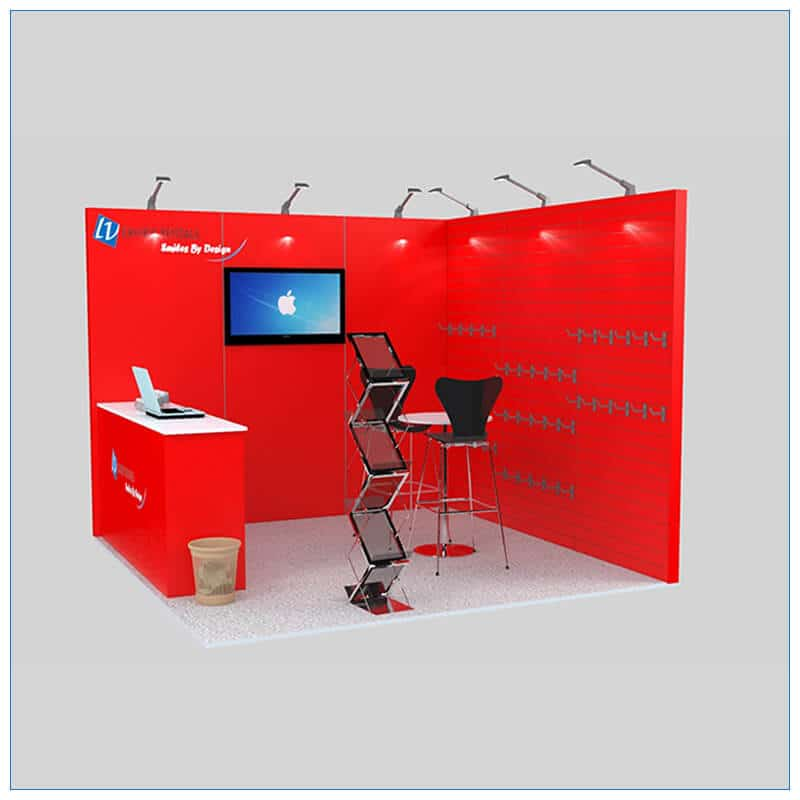 10x10 Trade Show Booth Rental Package 138 - LV Exhibit Rentals in Las Vegas