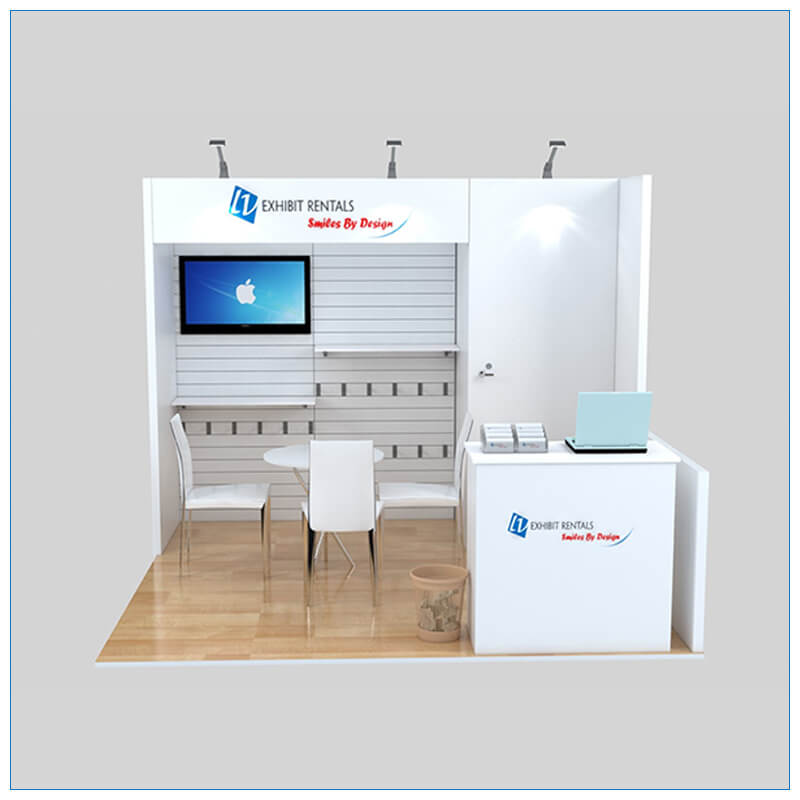 10x10 Trade Show Booth Rental Package 139 - Front View - LV Exhibit Rentals in Las Vegas